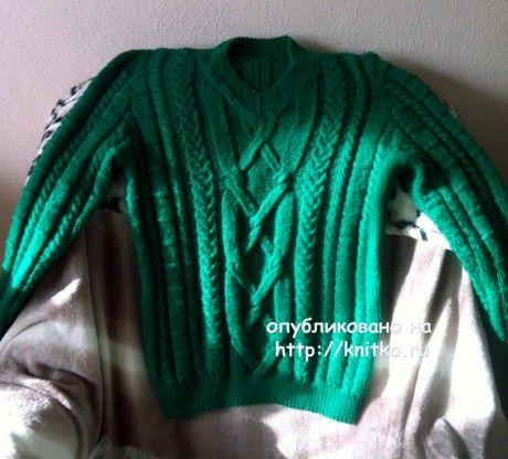Свитер мужской. Работа Наталии вязание и схемы вязания
