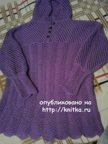 Вязаная туника спицами. Работа Натальи Фадеевой вязание и схемы вязания