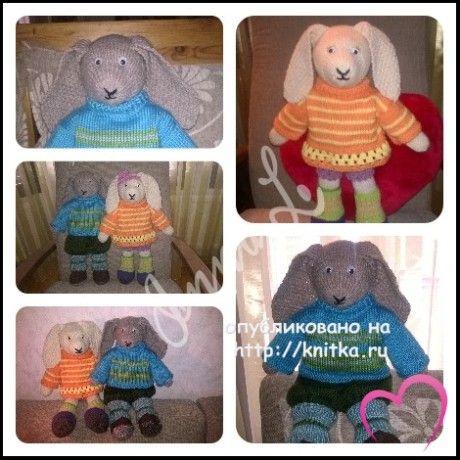 Вязаные игрушки. Работы Инны вязание и схемы вязания