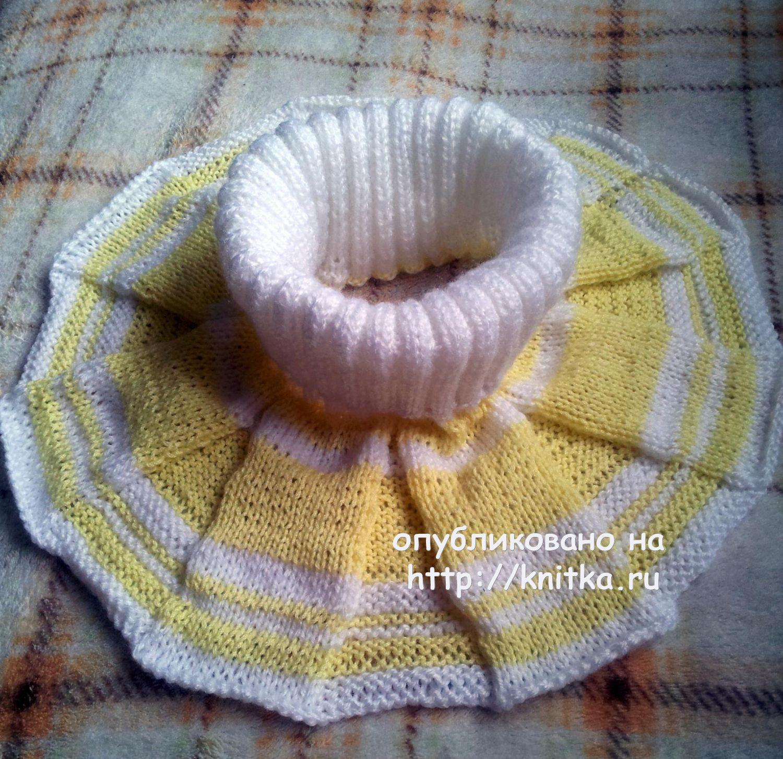 схемы вязания спицами манишки