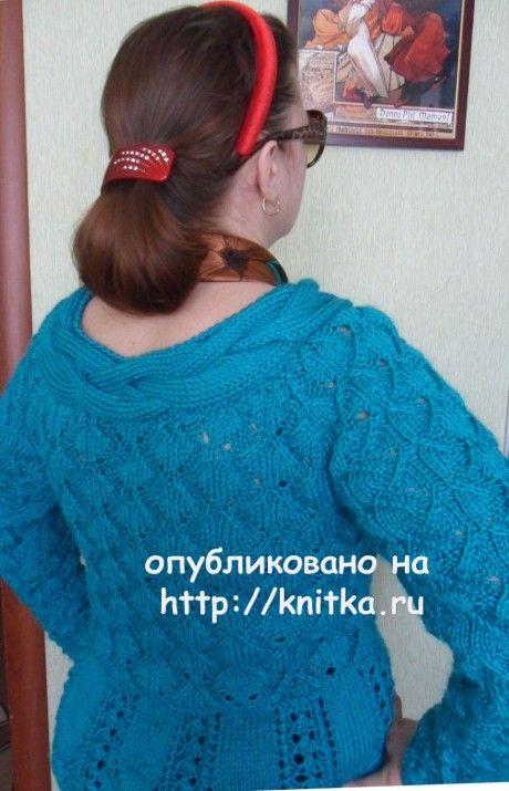 Женский пуловер спицами. Работа Светланы Шевченко (Sova Fotina) вязание и схемы вязания