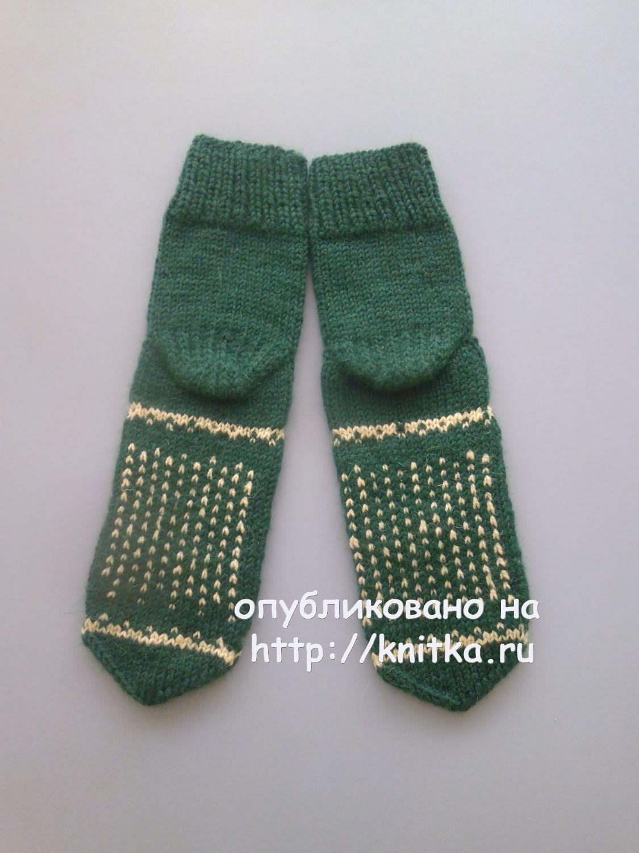 носки спицами с оленями схема вязания спицами