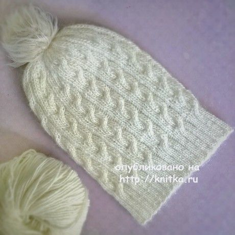 Вязаная шапочка для девочки. Работа Anya вязание и схемы вязания