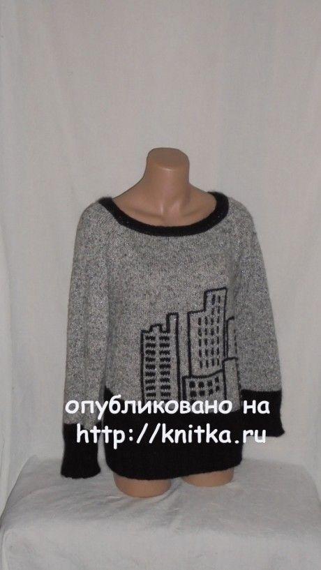 Вязаный свитер. Работа Веры вязание и схемы вязания