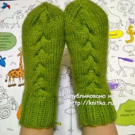 Детские носочки спицами. Работа Anya вязание и схемы вязания