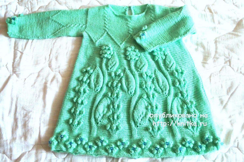 детское платье спицами работа оксаны вязание для детей