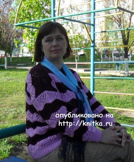 Двухцветный пуловер. Работа Светланы Шевченко (Sova Fotina) вязание и схемы вязания
