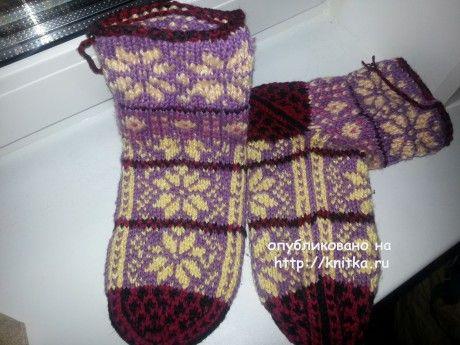 Носки с туркменским узором. Работы Фариды вязание и схемы вязания