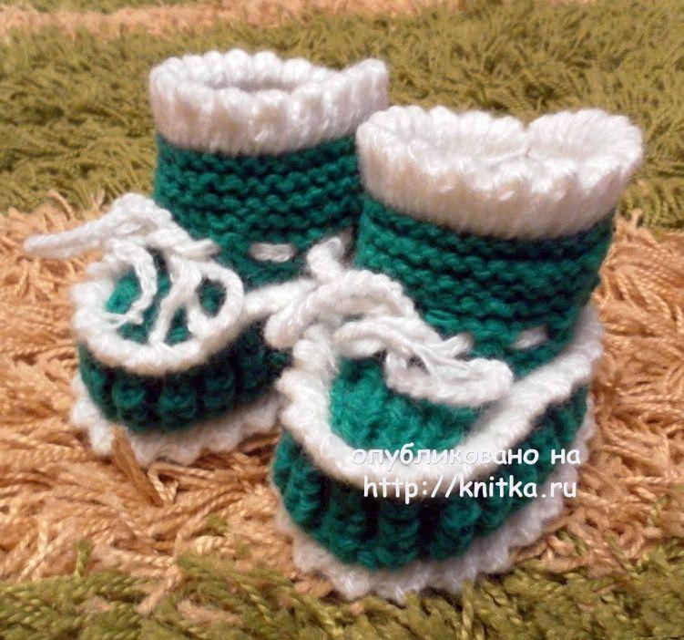 пинетки спицами работа риммы вязание для детей