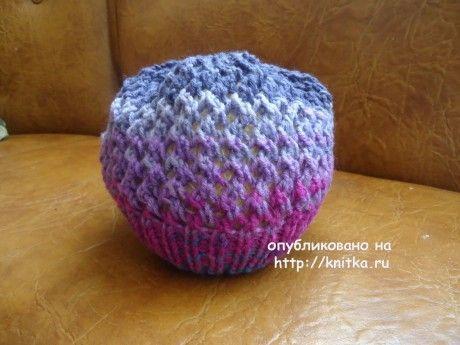 Шапочка для девочки. Работа Валерии вязание и схемы вязания