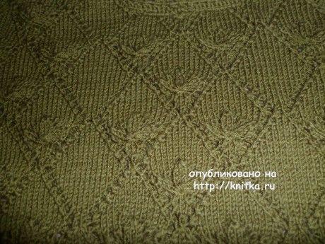 Вязаная спицами кофточка. Работа Ольги вязание и схемы вязания
