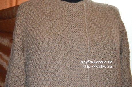 Вязаный спицами кардиган. Работа Анастасии Поповой вязание и схемы вязания