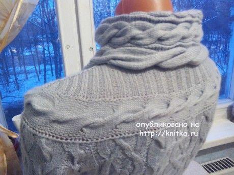 Вязаный женский свитер. Работа Анастасии вязание и схемы вязания