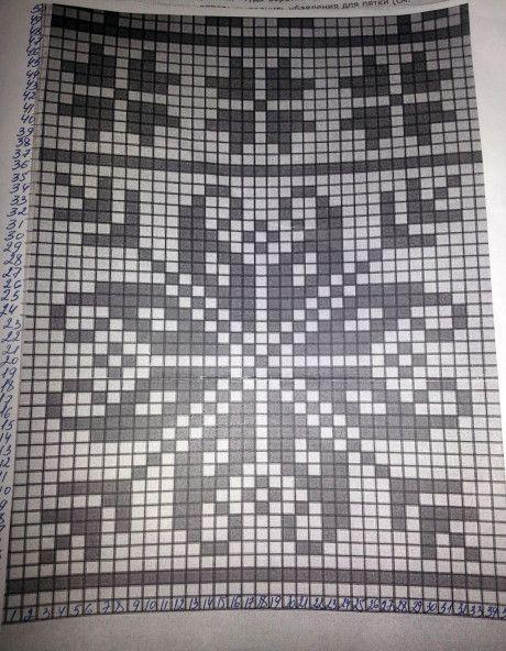 Схемы вязания жаккарда спицами