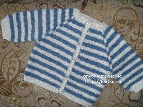 Детская кофточка спицами. Работа Натальи вязание и схемы вязания