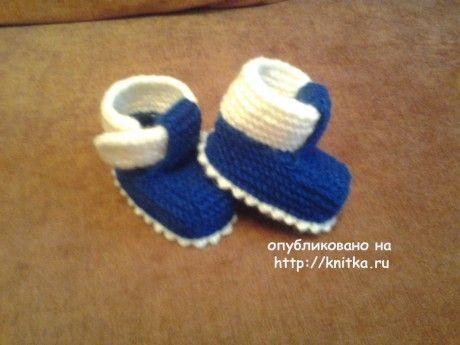 Детские пинетки. Работы Риммы вязание и схемы вязания