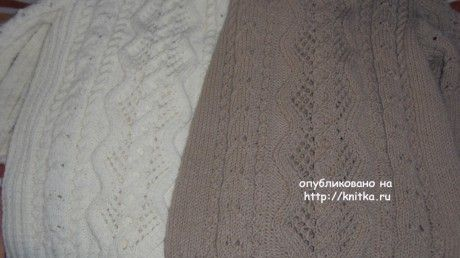 Два джемпера, связанные одинаковым узором вязание и схемы вязания