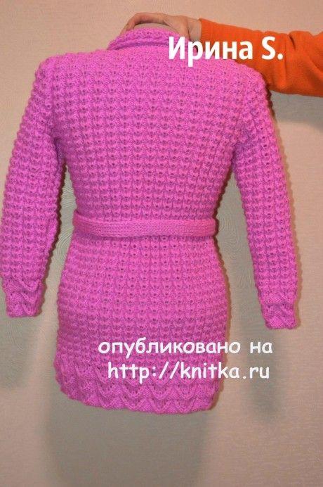 Кардиган спицами. Работа Ирины Стильник вязание и схемы вязания