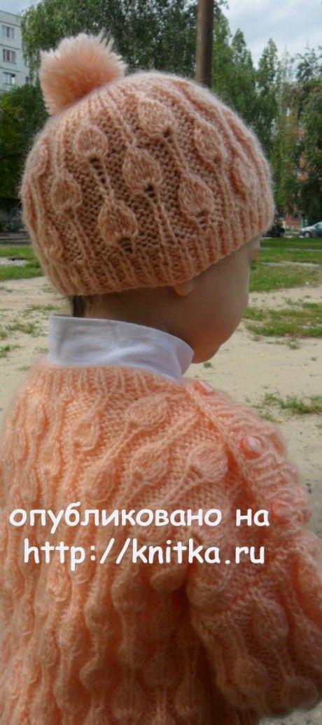 Пуловер и шапочка с помпоном. Работы Светлана Шевченко (Sova Fotina) вязание и схемы вязания