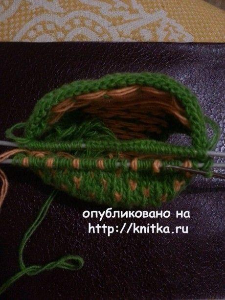 следки двумя спицами с подошвой плетенка
