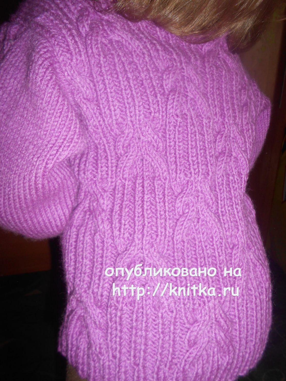 схема вязаного свитера для девочки
