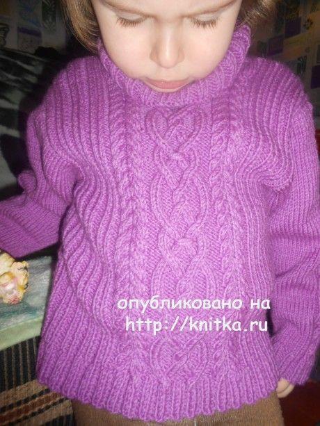 Свитер для девочки. Работа Галины Лукериной вязание и схемы вязания
