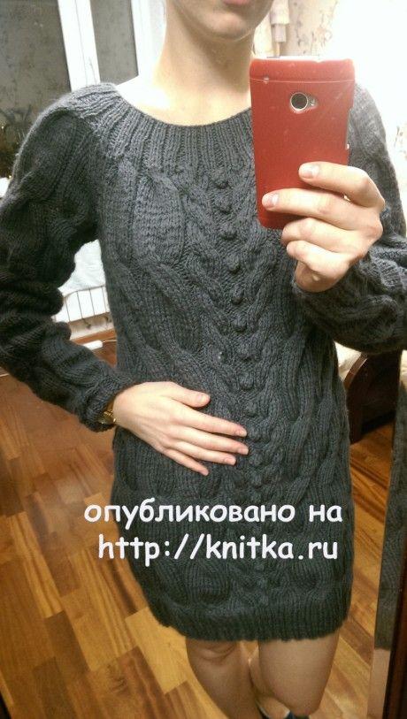 Туника - свитер. Работа Ирины вязание и схемы вязания