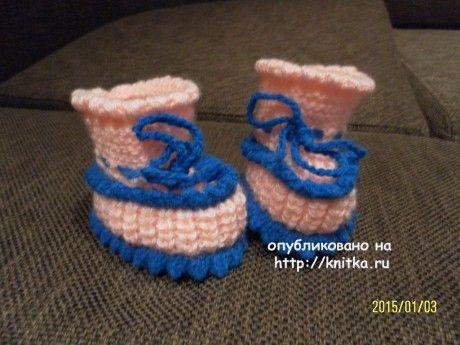 Вязание пинеток спицами. Работы Риммы вязание и схемы вязания