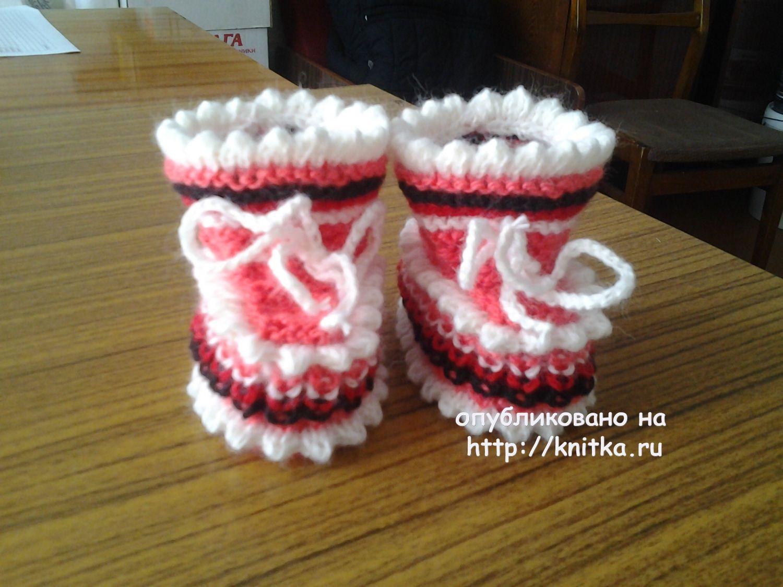 вязание пинеток спицами работы риммы вязание для детей