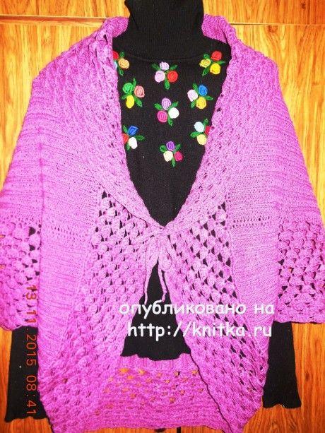 Вязаный жилет. Работа Людмилы вязание и схемы вязания