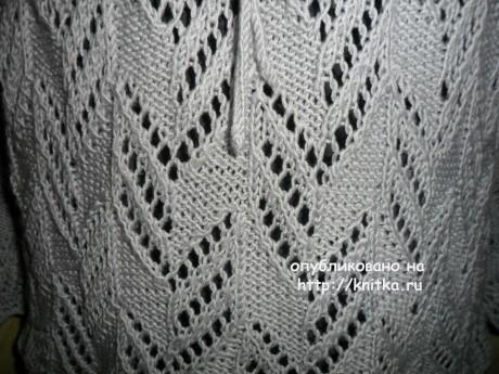 Джемпер - туника спицами. Работа Веры вязание и схемы вязания