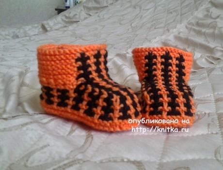Пинетки для малышей. Работа Риммы вязание и схемы вязания