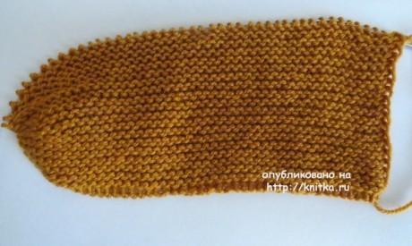 Шапка - бини спицами. Работа Сауле Вагаповой вязание и схемы вязания