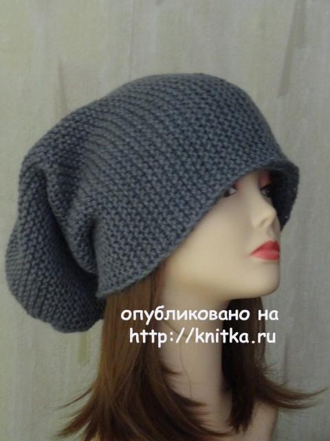 Вяжем шапку-бини спицами