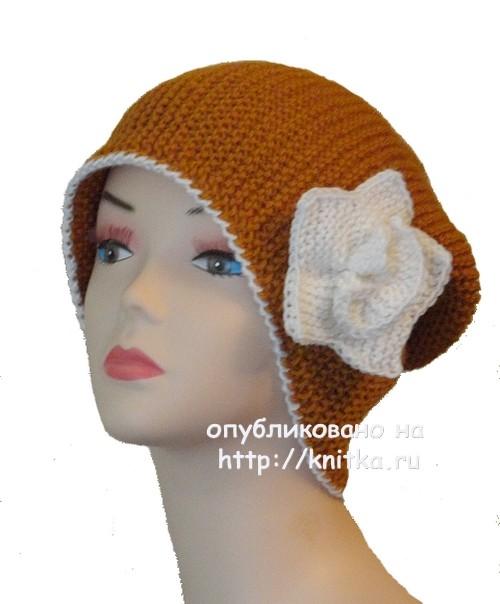 шапка бини спицами работа сауле вагаповой вязание для женщин