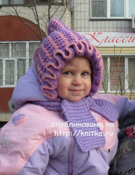 Шапочка для девочки. Работа Светланы Шевченко вязание и схемы вязания
