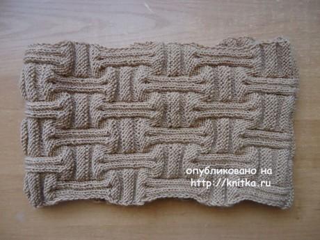 Снд спицами. Работа Валерии вязание и схемы вязания