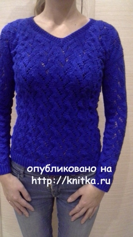 Вязаная кофточка. Работа Ольги Ярославской вязание и схемы вязания