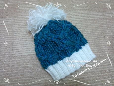 Вязаная шапочка. Работа Татьяны Бажановой вязание и схемы вязания
