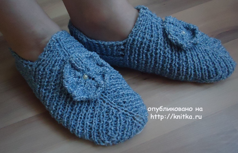 Вязанные носки спицами с узором и схемами