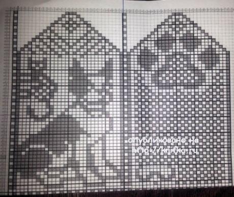 Вязаные тапочки с собачкой. Работа Фариды вязание и схемы вязания