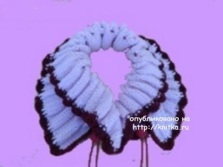 Вязаный спицами шарф. Работа Сауле Вагаповой вязание и схемы вязания