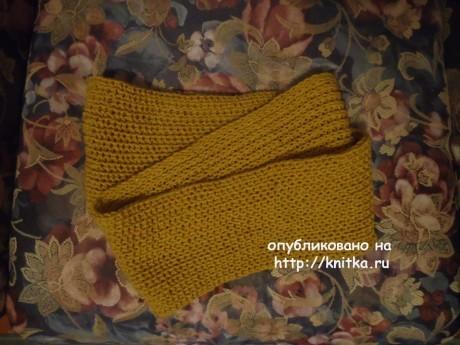 Вязаный спицами снуд. Работа Валерии вязание и схемы вязания