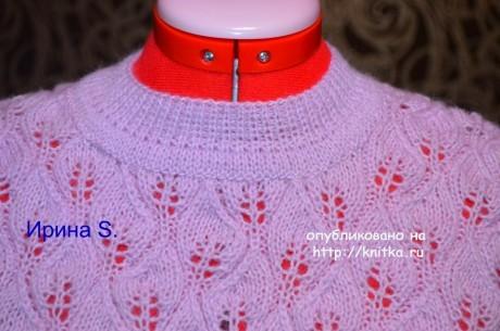 Вязаный спицами свитер. Работа Ирины Стильник вязание и схемы вязания