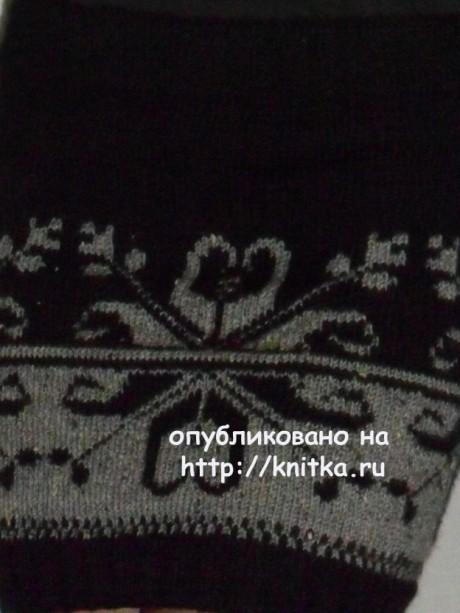 Жаккардовая юбочка. Работа Веры вязание и схемы вязания