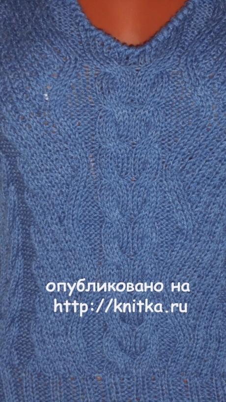 Женская безрукавка спицамию Работа Веры вязание и схемы вязания