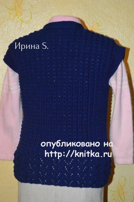 Женский жилет спицами. Работа Ирины Стильник вязание и схемы вязания