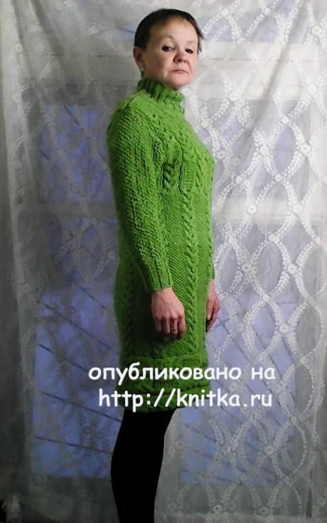 Женское платье. Работа Натальи Фадеевой вязание и схемы вязания