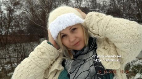 Зимнее пальто Ванилька. Работа Оксаны вязание и схемы вязания