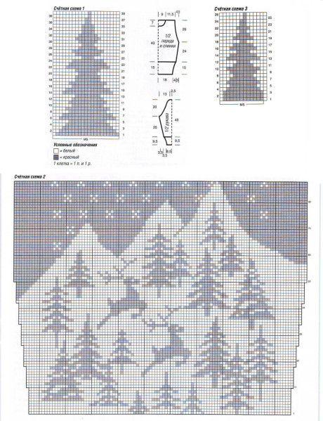 Схемы вязания пуловера: